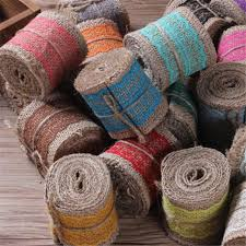 colored burlap ribbon 18 colors 6 200cm candy color burlap ribbon roll gift linen diy