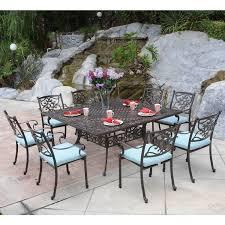 Square Patio Tables Meadow Decor Kingston 9 Square Patio Dining Set 65 X 65