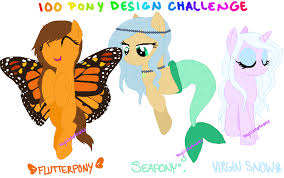 Challenge Open Or Closed Mlp 100 Pony Design Challenge 19 20 22 Closed By