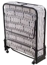 Cot Bed Roll Away Fold Able Portable Cot With Foam Mattress New