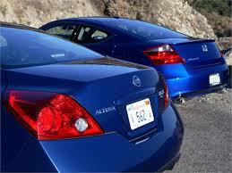 2008 Nissan Altima Coupe Interior Head To Head Comparison 2008 Honda Accord Coupe Vs 2008 Nissan