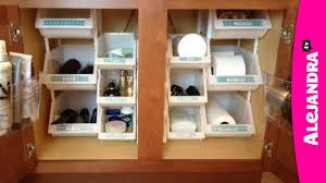 small bathroom organization ideas bathroom organization how to organize under the cabinet youtube