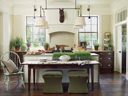 Kitchen Faucet Atlanta Atlanta French Farmhouse Decor Kitchen With Green Stools Wooden