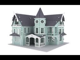 fantasy mansion doll house 3d puzzle pattern plans laser router