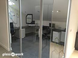 glass partitioning at zinc digital northampton glass partitions