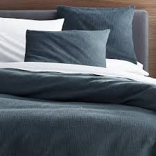 lindstrom blue duvet covers and pillow shams crate and barrel