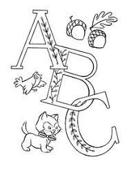 alphabet words coloring activity sheet letter key letter