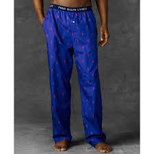 ralph polo player pajama in blue for lyst