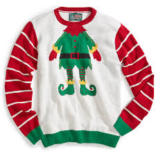 ugly christmas sweater white heather elf sweater