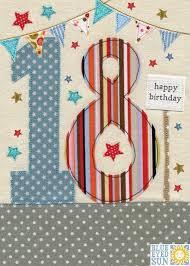 stars u0026 bunting 18th birthday card karenza paperie