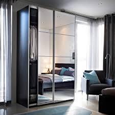 armoire miroir chambre auli portes coulissantes 2 pièces miroir porte miroir design