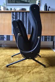 Italian Armchair Black Italian Armchair Model P40 By Osvaldo Borsani In Fabric And