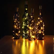 jojoo set of 6 warm white wine bottle cork led lights copper wire