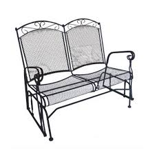 Glider Porch Shop D C America Charleston Black Porch Glider At Lowes Com