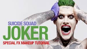 squad joker special fx makeup tutorial youtube