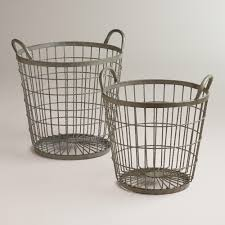 zinc jayden wire baskets large online interior design nousdecor
