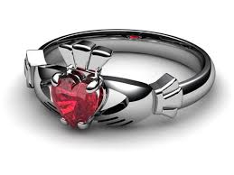 rings ruby images White gold ruby claddagh ring jpg