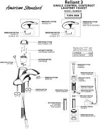 American Standard Shower Faucet Cartridge American Standard Bathroom Faucet Parts Diagram Brightpulse Us