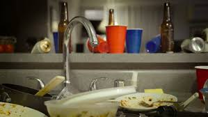 Dirty Kitchen Sink After Party Stock Footage Video - Dirty kitchen sink