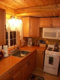 log cabin with kitchen and bathroom classic look in the log