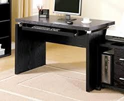 amazon com coaster peel black computer desk with keyboard tray