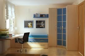 Bedroom Bed In Corner Bedroom Space Saving House In Bedroom Wooden Book Shelf Mounted