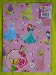 cinderella wrapping paper disney princess 2 sheets of gift wrapping paper 2 tags