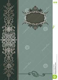 Cover Invitation Card Vintage Invitation Card Or Book Cover Design Stock Illustration