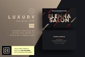 Luxury Business Cards Luxury Business Card 95 Business Card Templates On Creative Market
