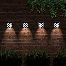 Outdoor Solar Lights For Fence 6 Led Decorative Wireless Garden Solar Lights Weatherproof Outdoor