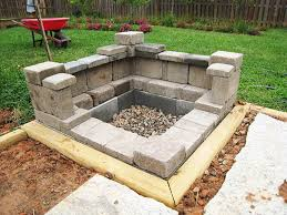 Block Firepit Patio With Pit Diy Pit Kit Pit With Blocks The