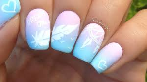 dreamcatcher and feather nail art youtube