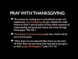 pray with thanksgiving