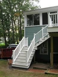 Front Staircase Design Front Porch Nice Home Exterior Design Using White Painted Wooden