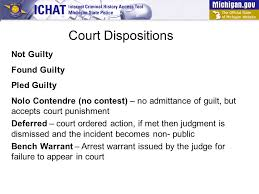 Bench Warrant Procedures How To Read A Michigan Criminal History Tutorial Ppt Video