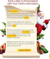 official letters from santa 30 free shipping