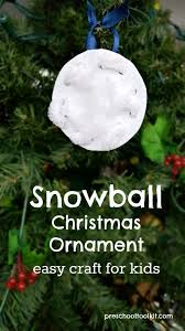 Christmas Ornaments Crafts For Preschoolers by How To Make A Simple Snowball Ornament Kids Craft Preschool Toolkit