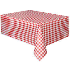 thick plastic table cover red gingham check plastic tablecloth tablecover table cloth 137cm x