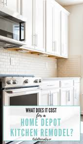 home depot custom kitchen cabinets cost how much does a home depot kitchen cost kate decorates
