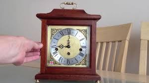 Linden Mantel Clock Franz Hermle Woodford 8 Day Westminster Chime Bracket Mantle Clock