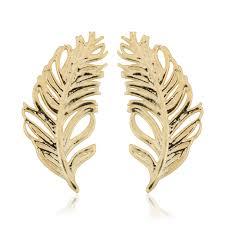 feather stud earrings fremada italian 14k yellow gold feather stud earrings free