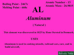 is aluminum on the periodic table periodic table of elements