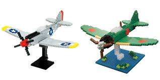 mitsubishi lego bundle of 2 nanoblock ww2 fighter plane sets p 51 mustang