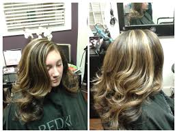 natural healthy hair styling in a professional salon environment