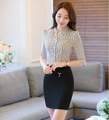 business blouses wholesale professional business work suits tops and skirt