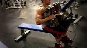 Bench Pressing With Dumbbells Build A Big Chest With Heavy Dumbbell Bench Presses 150 For 10