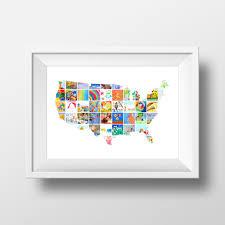 usa map kids art display itsy art