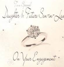 Engagement Congratulations Card Daughter And Future Son In Law Engagement Handmade