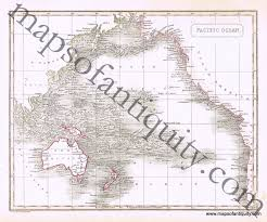 Map Of Pacific Ocean Antique 1817 Map Of The Pacific Ocean By Arrowsmith Maps Of