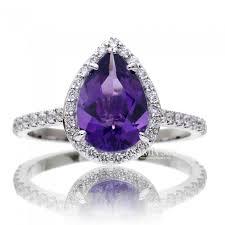 amethyst engagement rings 10x7 purple amethyst ring halo engagement ring
